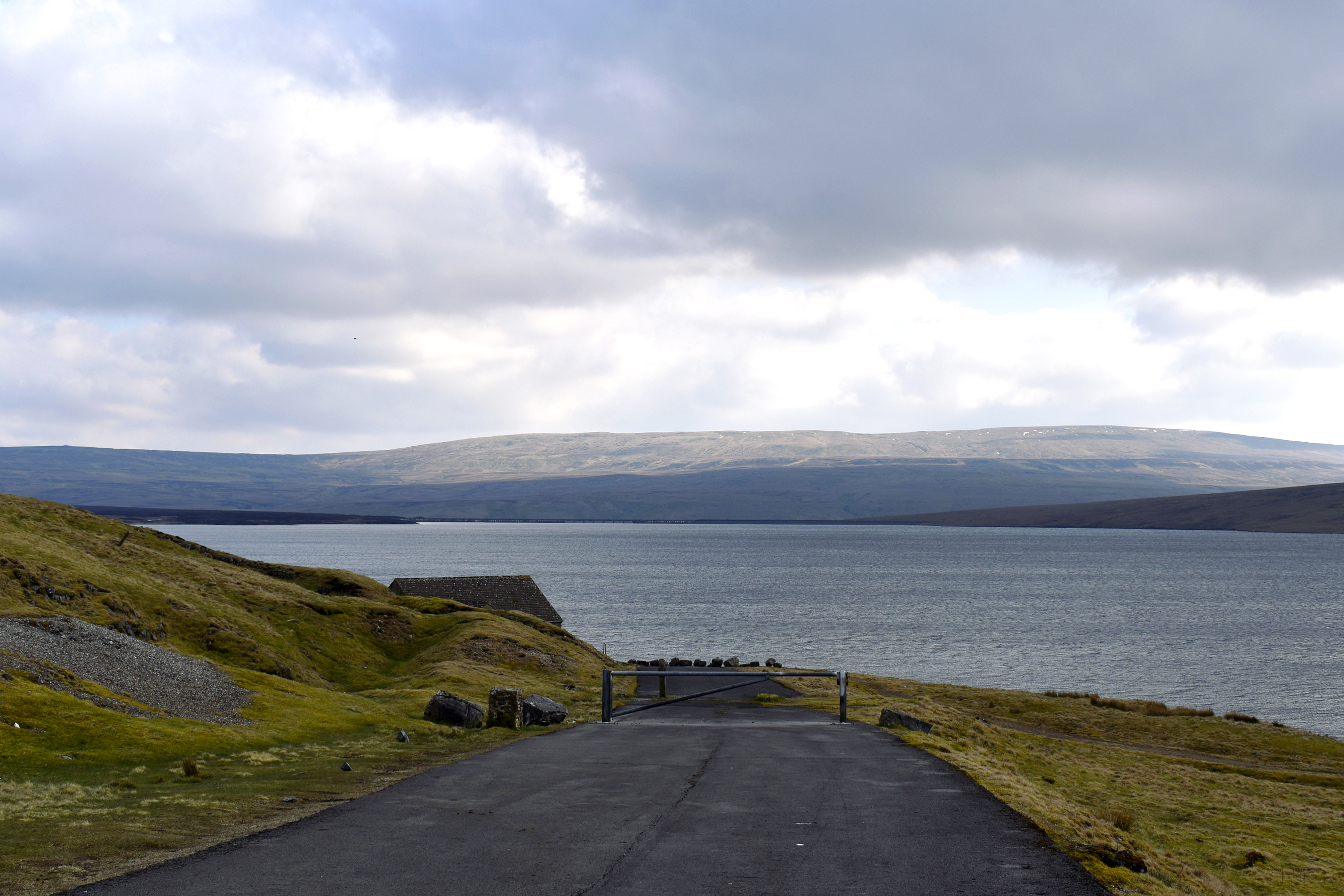 view of reservoir with clouds