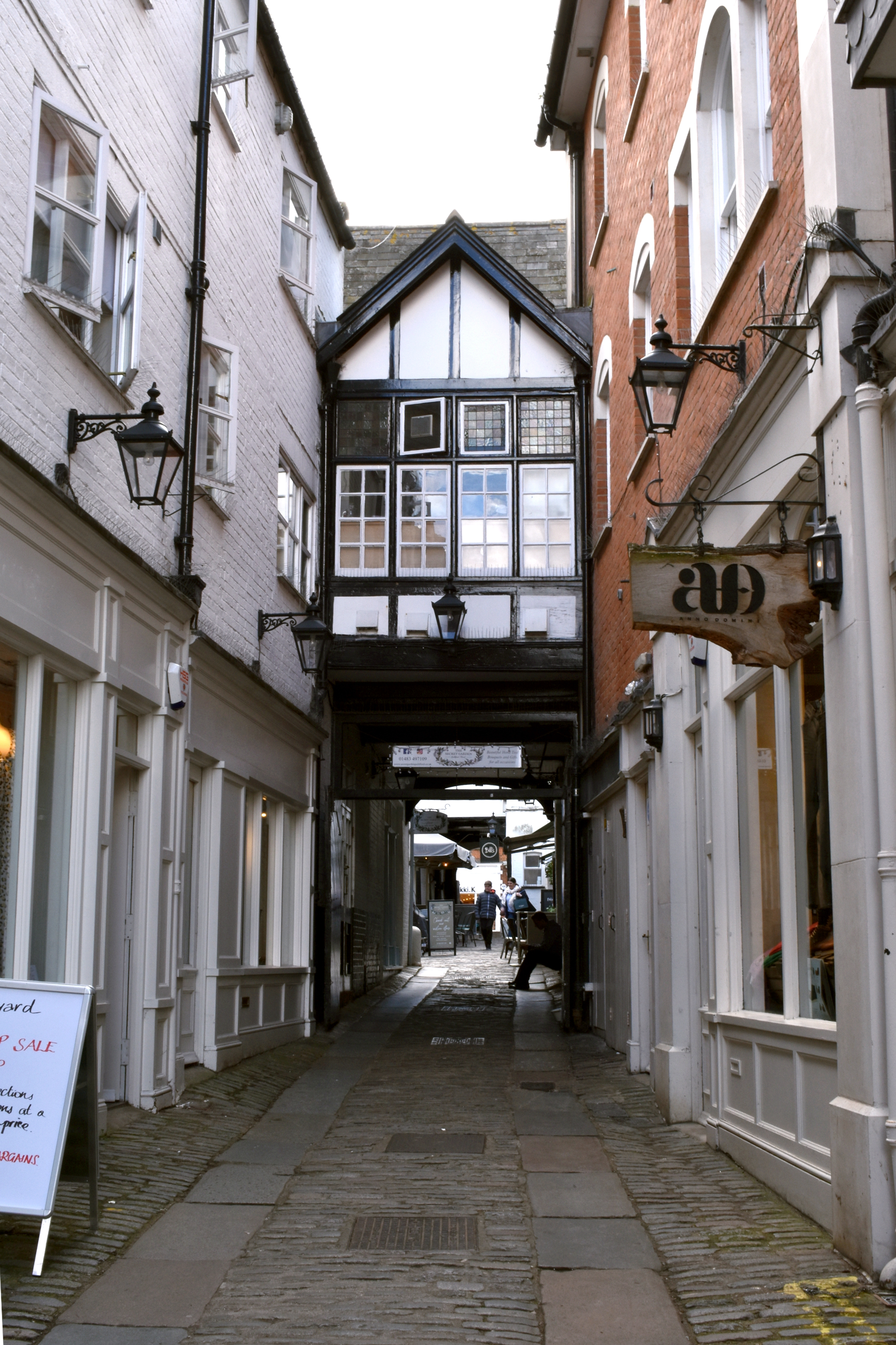 view of medieval archway in town centre