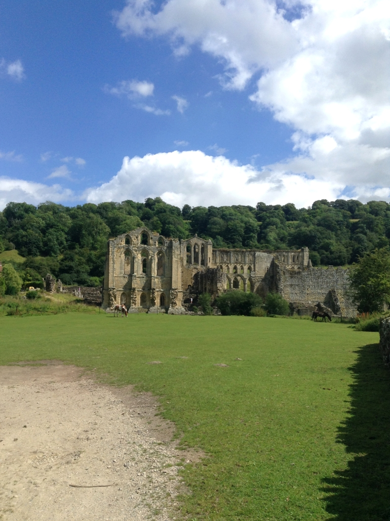 View of Rievaulx Abbey from